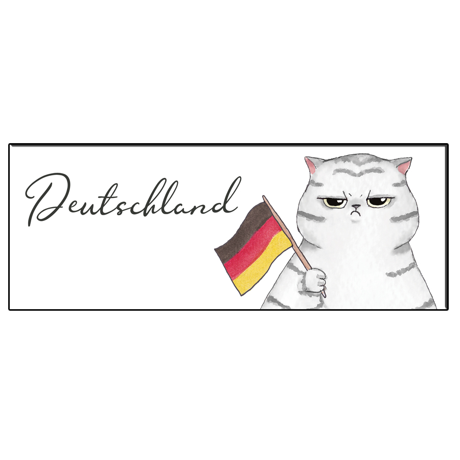 FUN CAT GERMANY BOOKMARK
