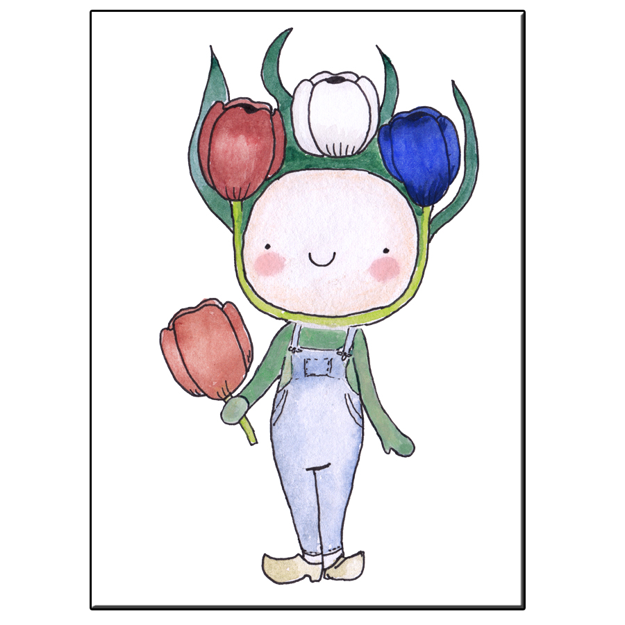 A5 HAPPY TULIP BOY CARD