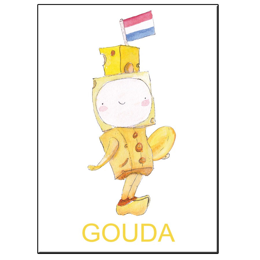 A5 HAPPY CHEESE BOY GOUDA CARD