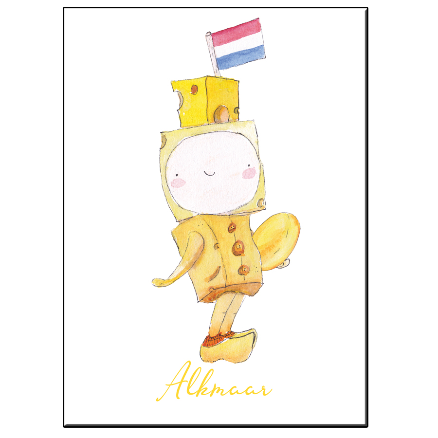 A5 HAPPY CHEESE BOY ALKMAAR CITIES NL CARD