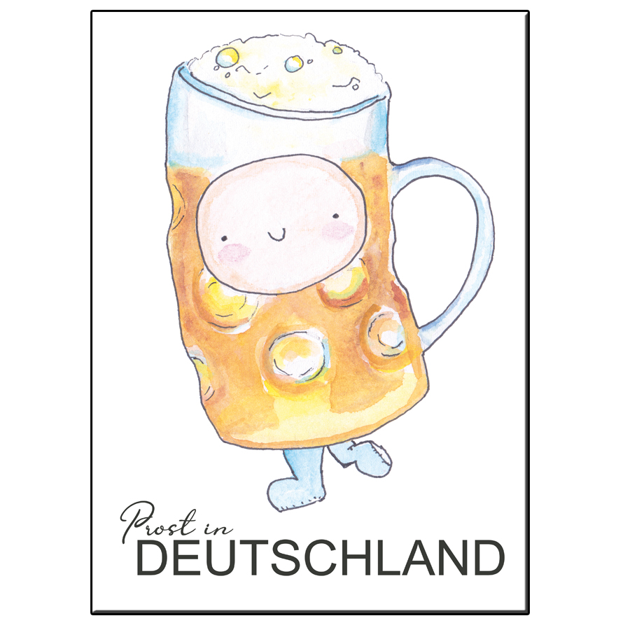 A5 HAPPY BEER GERMANY CARD