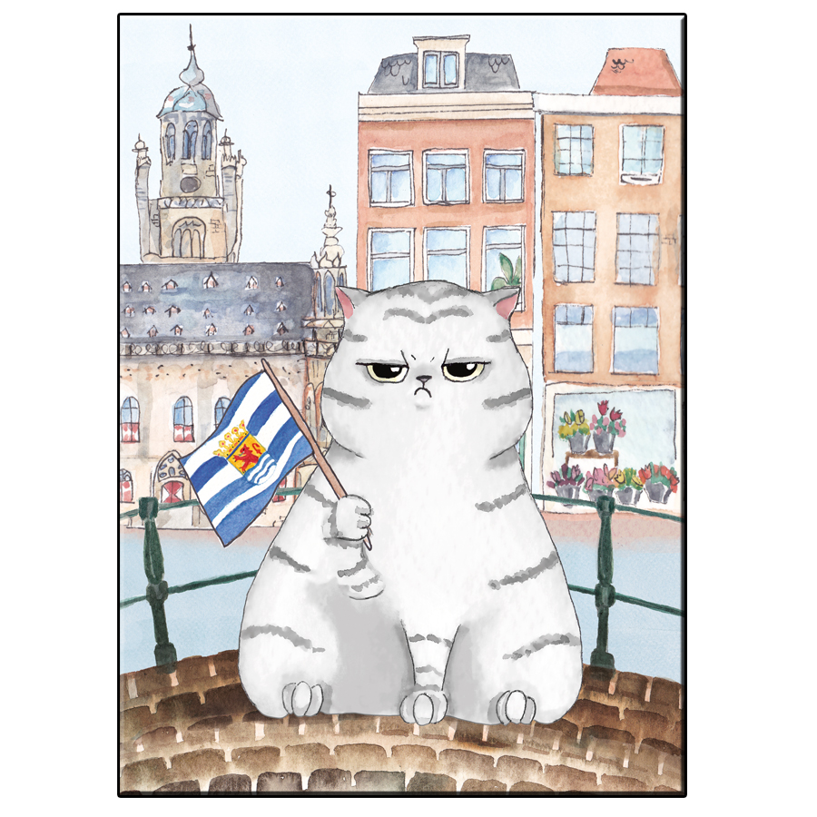 A5 FUN CAT IN MIDDELBURG CITY CARD