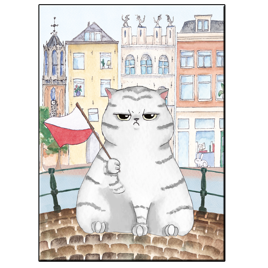 A5 FUN CAT DAKHOAS UTRECHT CARD