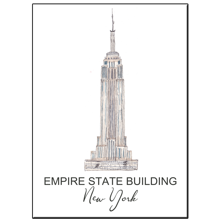 A5 CITY ICON EMPIRE STATE BUILDING NY CARD