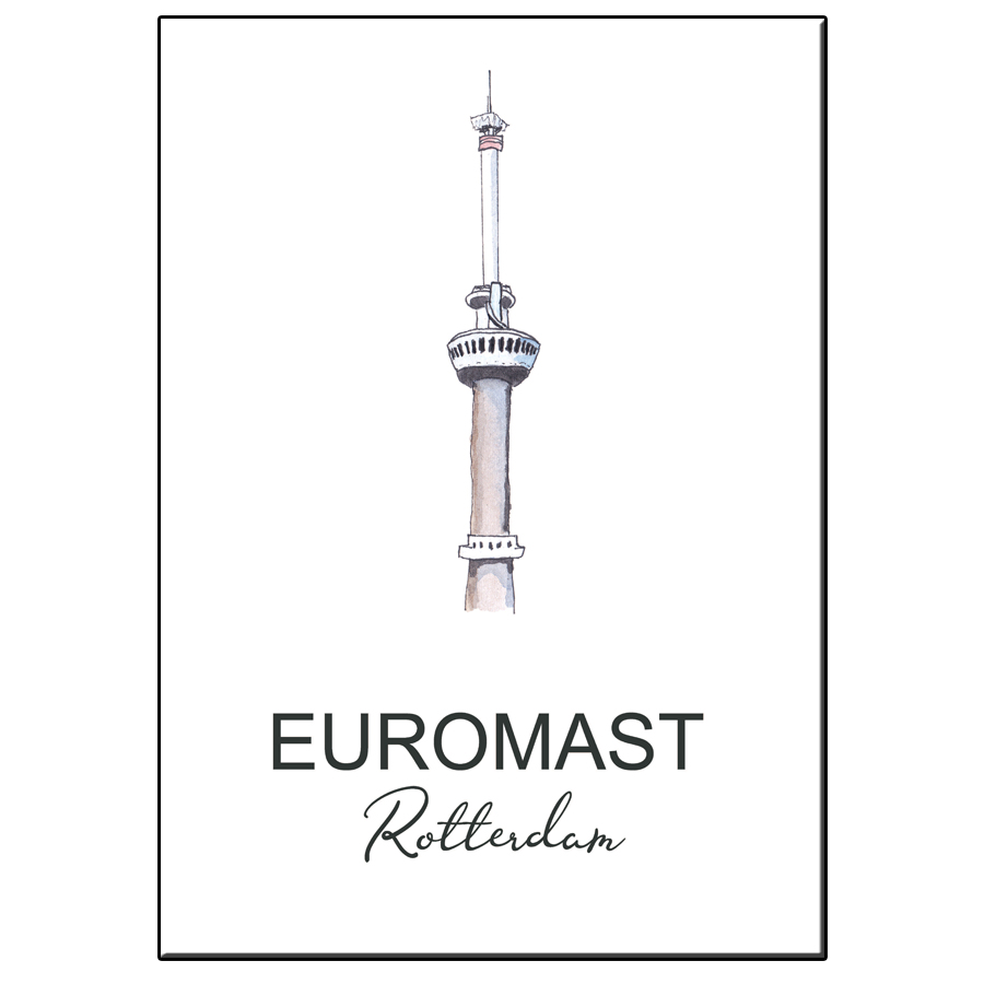 A5 CITY ICON EUROMAST ROTTERDAM CARD