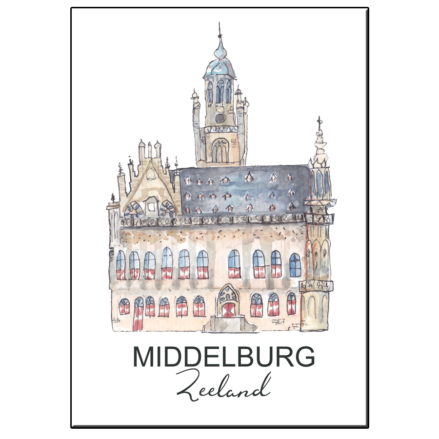 A5 CITY ICON STADHUIS MIDDELBURG CARD