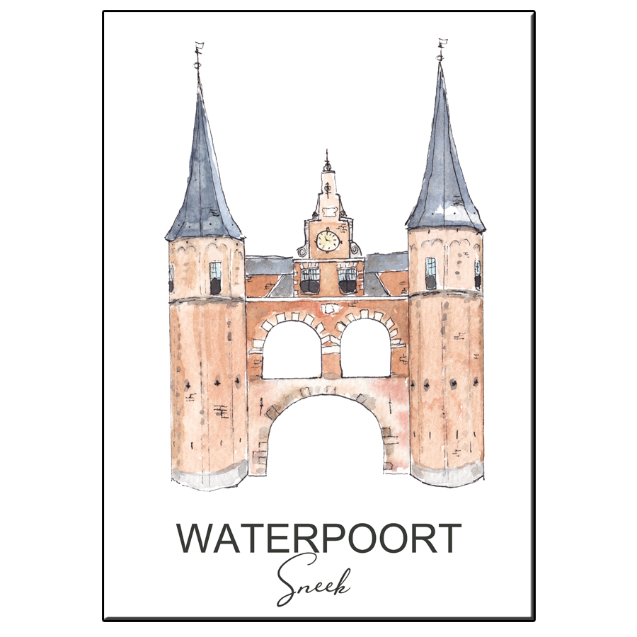 A5 CITY ICON WATERPOORT SNEEK CARD