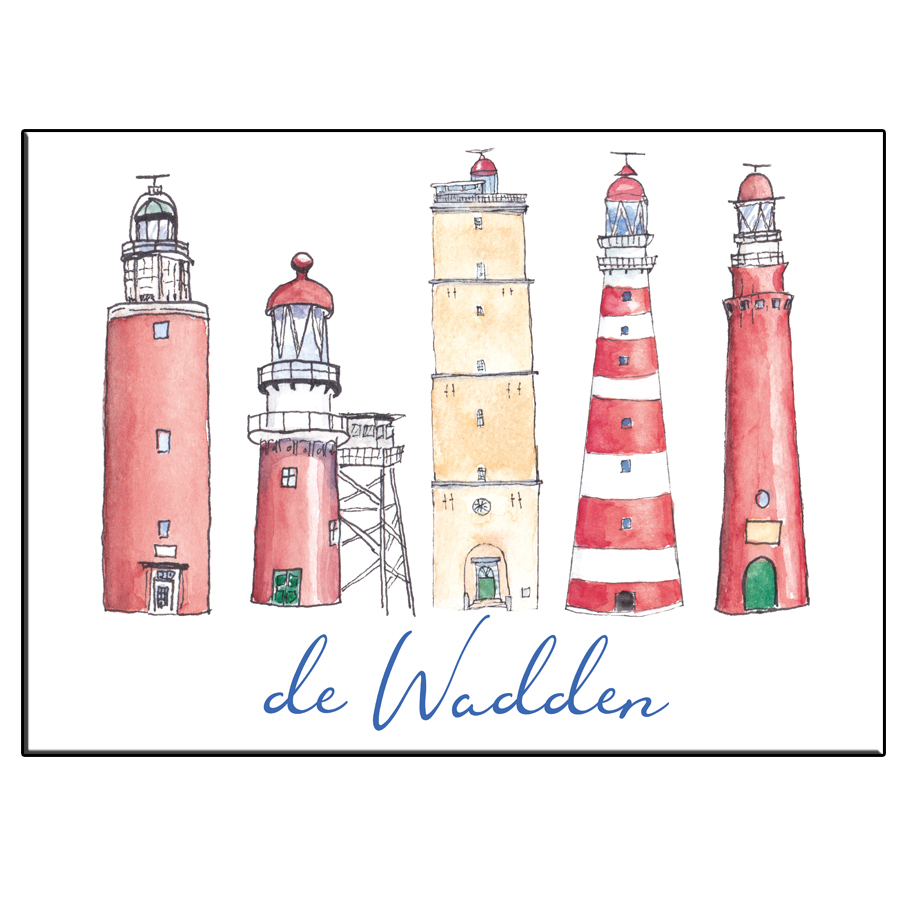 A5 CITY ICON LIGHTHOUSES WADDEN CARD