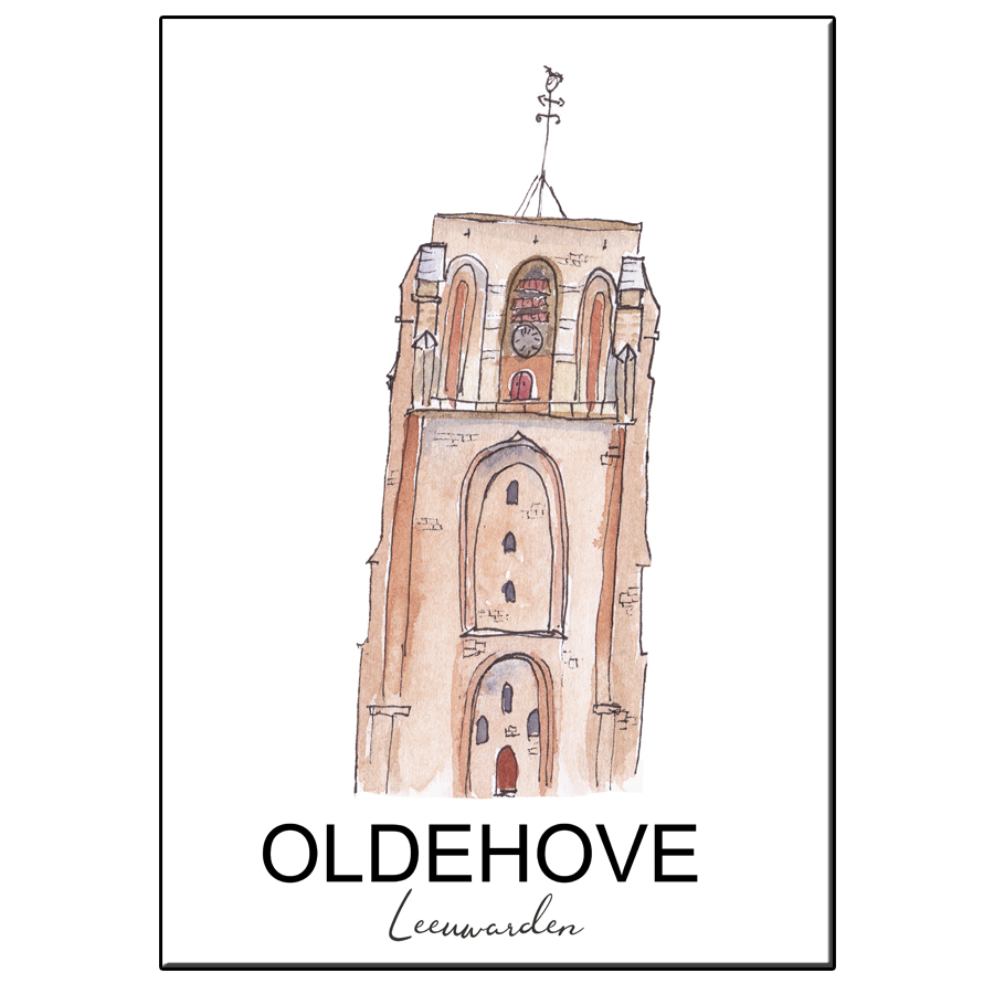 A5 CITY ICON OLDEHOVE LEEUWARDEN CARD