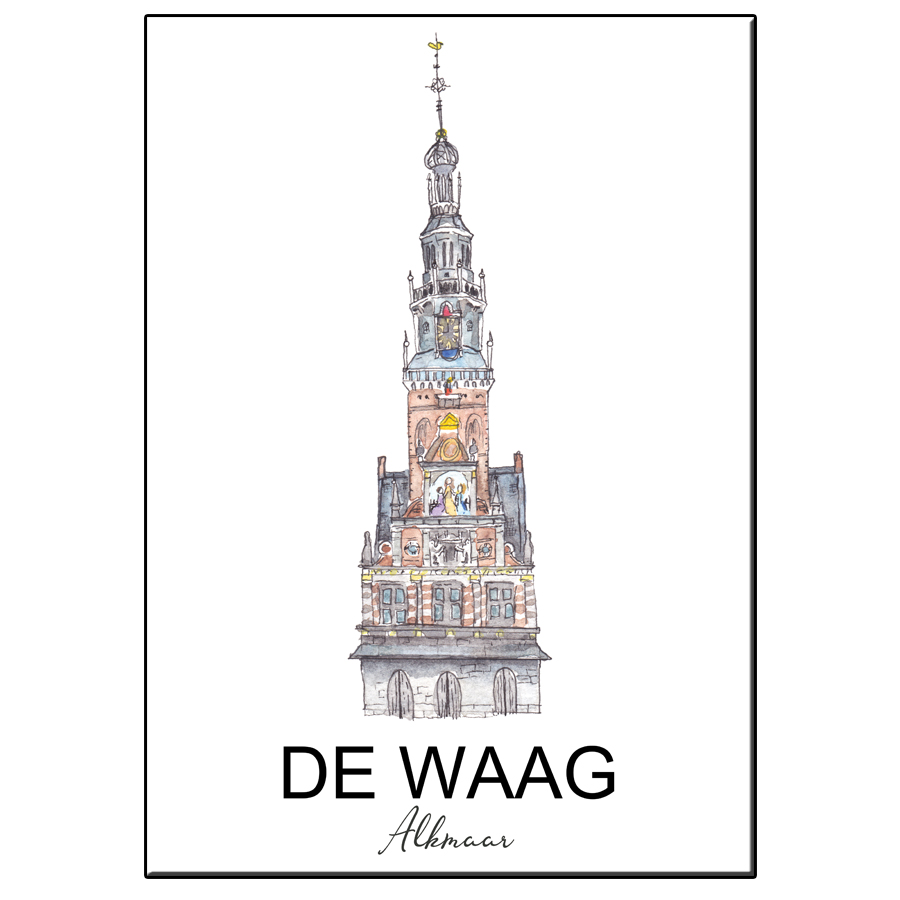 A5 CITY ICON WAAG ALKMAAR CARD