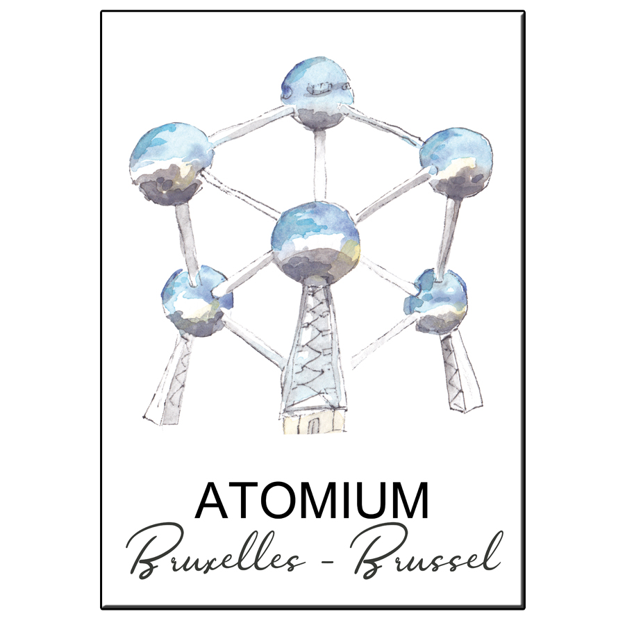 A5 CITY ICON ATOMIUM BRUSSELS CARD