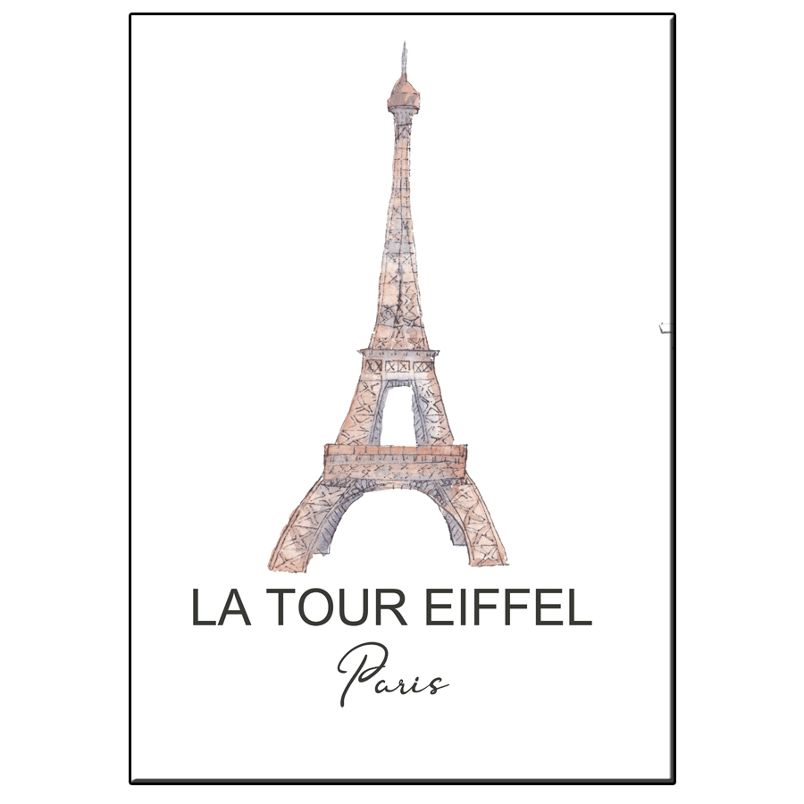 A5 CITY ICON TOUR EIFFEL PARIS CARD
