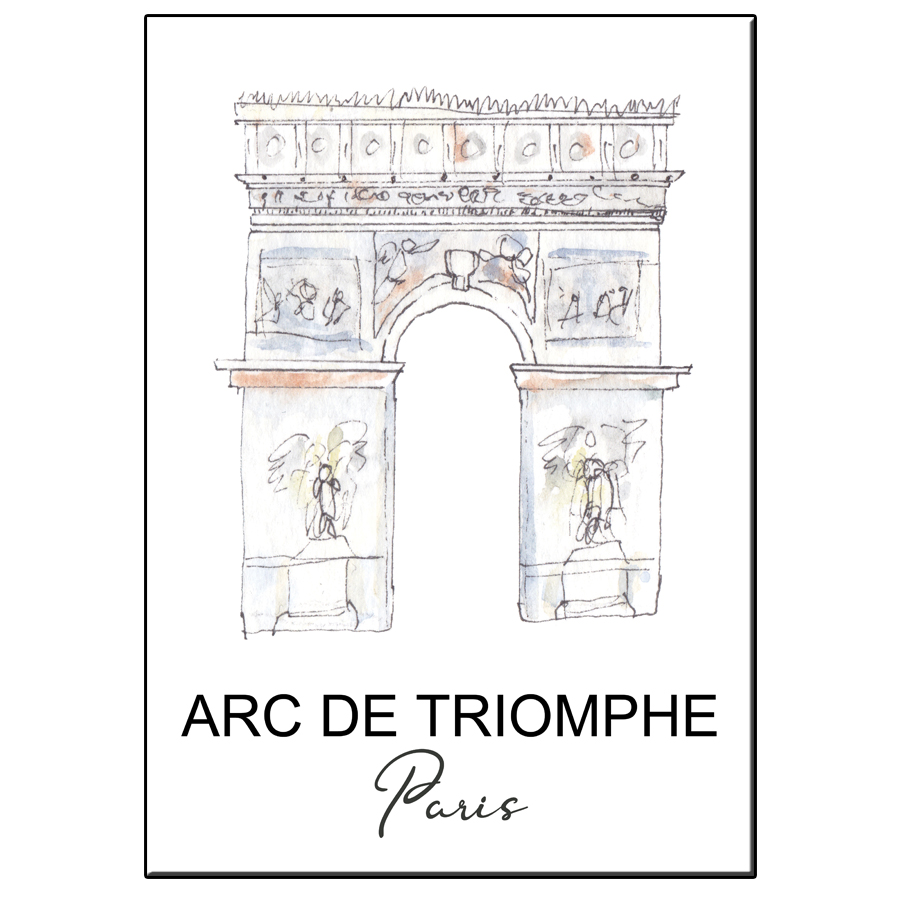 A5 CITY ICON ARC DE TRIOMPHE PARIS CARD