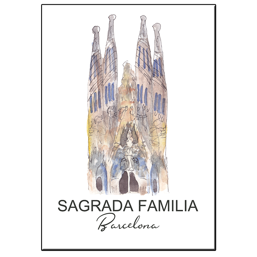 A5 CITY ICON SAGRADA FAMILIA BARCELONA CARD