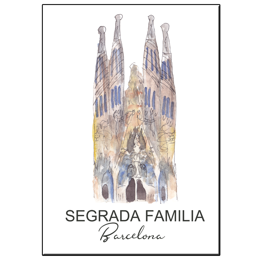 A5 CITY ICON SEGRADA FAMILIA BARCELONA CARD
