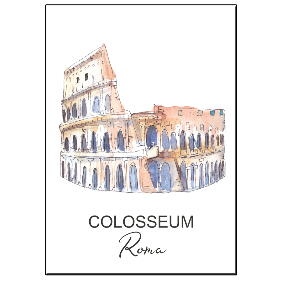 A5 CITY ICON COLOSSEUM ROME CARD