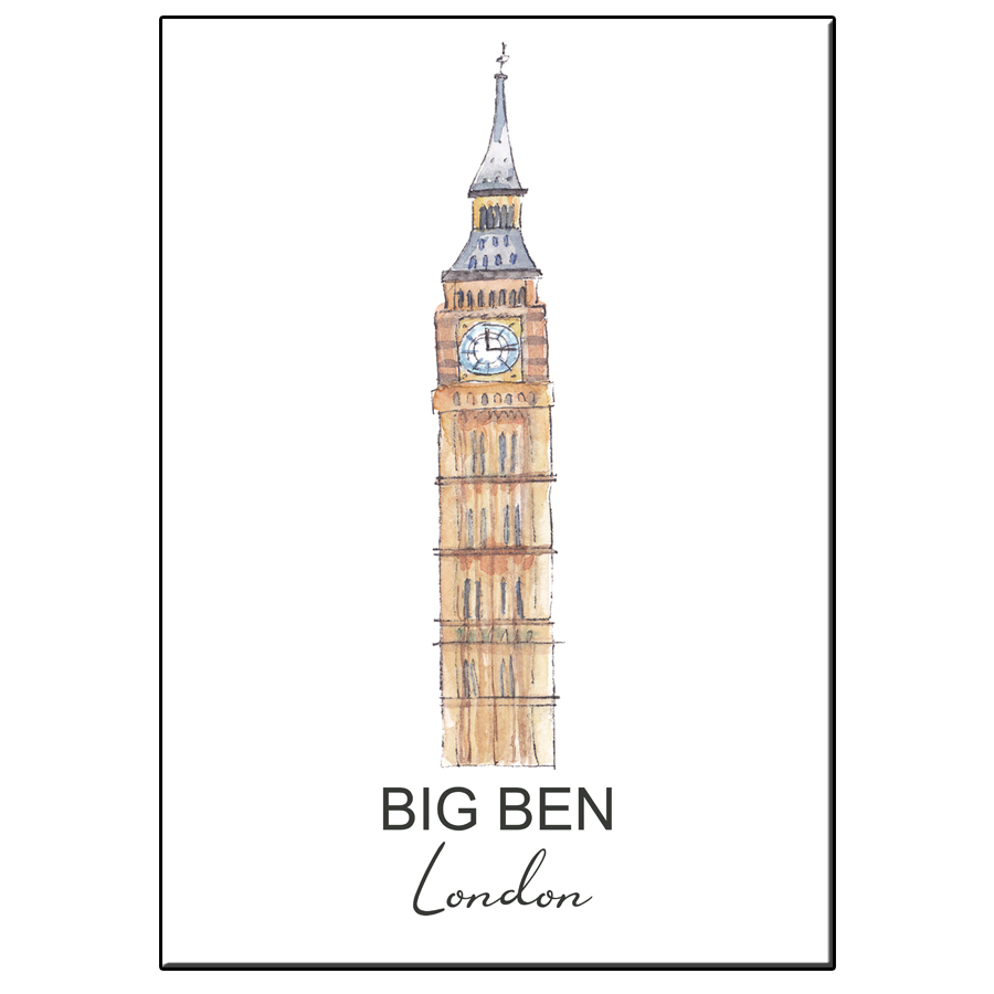 A5 CITY ICON BIG BEN LONDON CARD