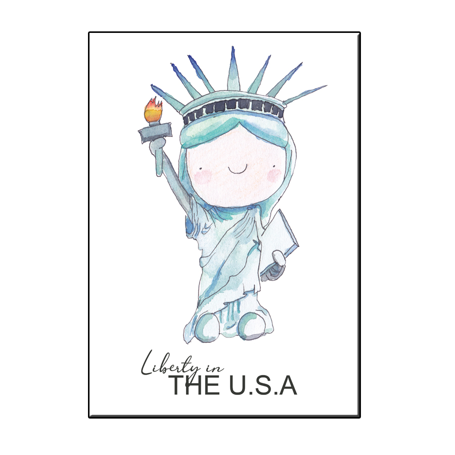 A6 HAPPY LIBERTY STATUE CARD