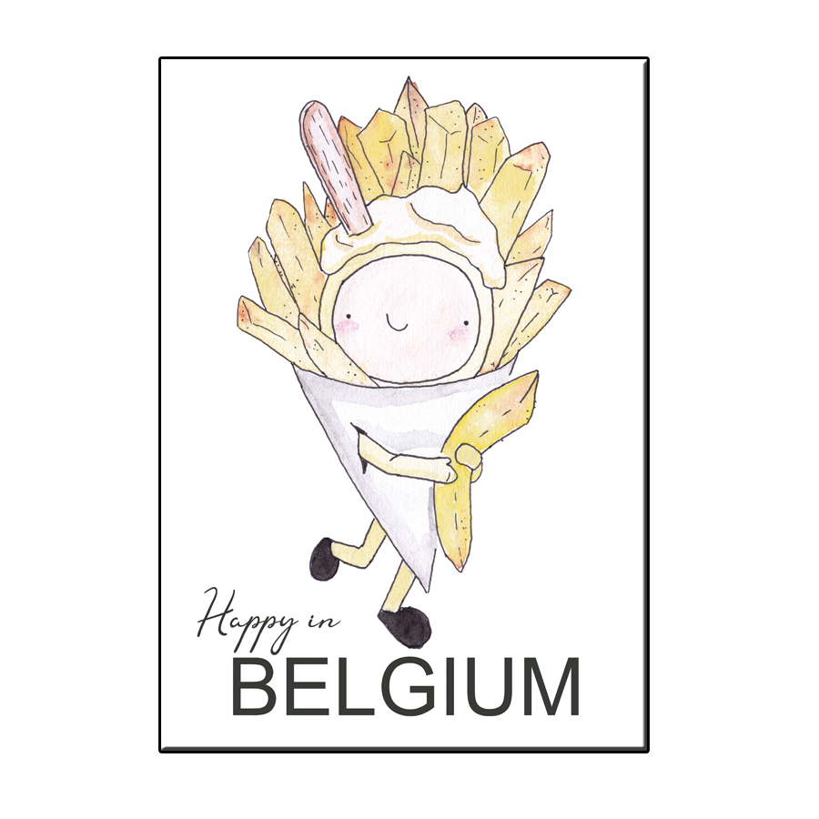 A6 HAPPY FRITES BELGIUM CARD