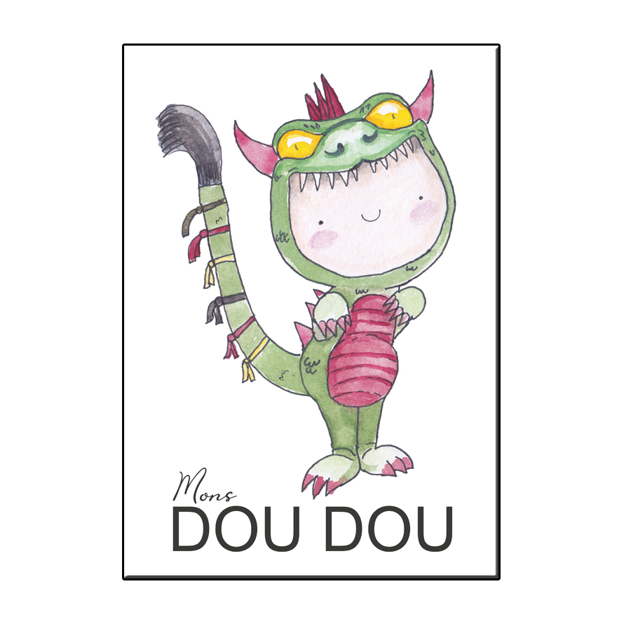 A6 HAPPY DOU DOU MONS CARD