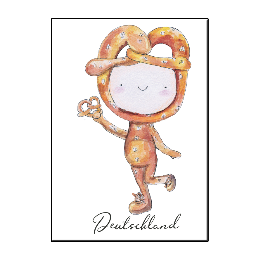 A6 HAPPY PRETZEL DEUTSCHLAND CARD