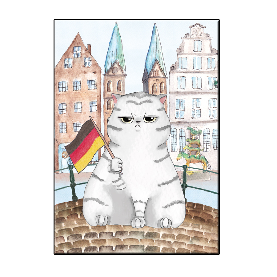 A6 FUN CAT IN BREMEN CITY CARD