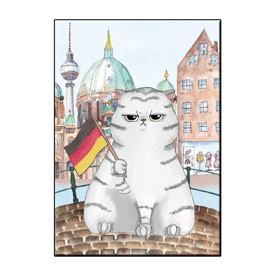 A6 FUN CAT IN BERLIN CITY CARD