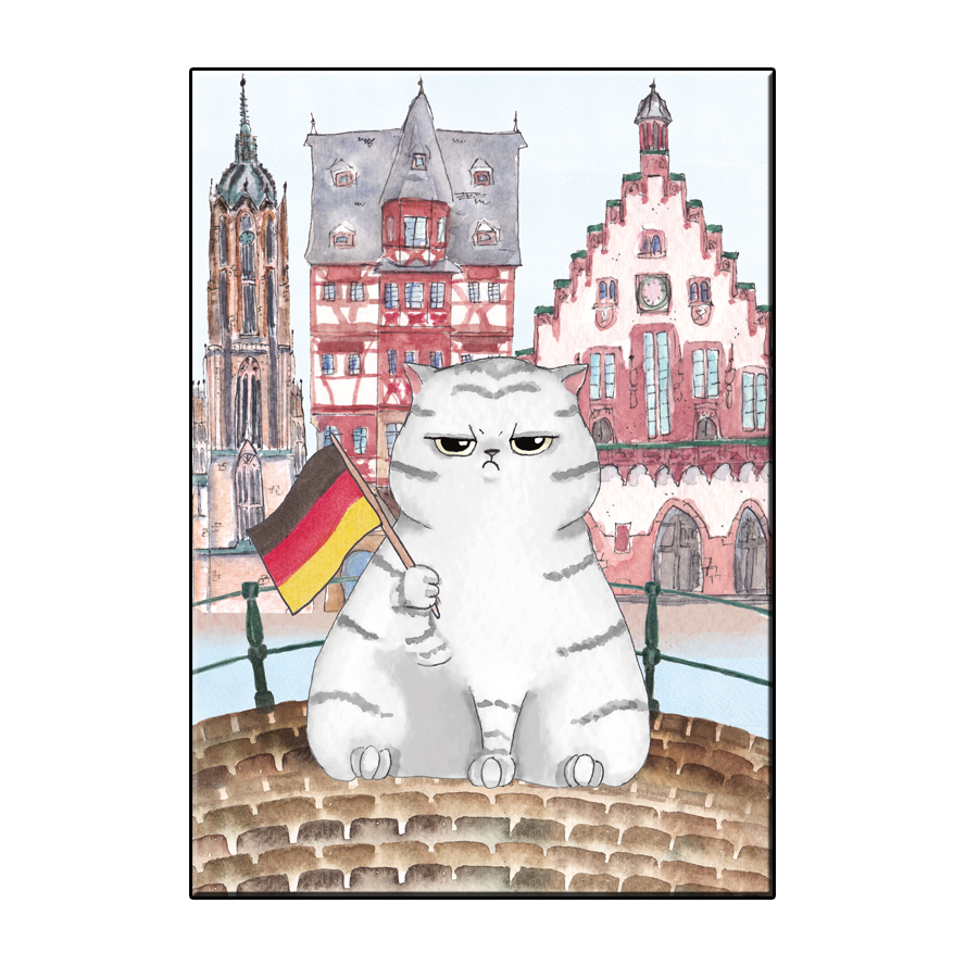 A6 FUN CAT IN FRANKFURT CITY CARD