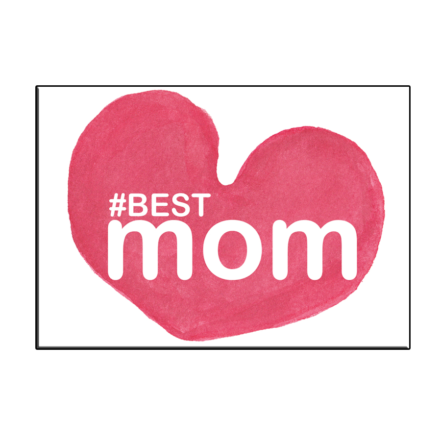 A6 BEST MOM HEART CARD