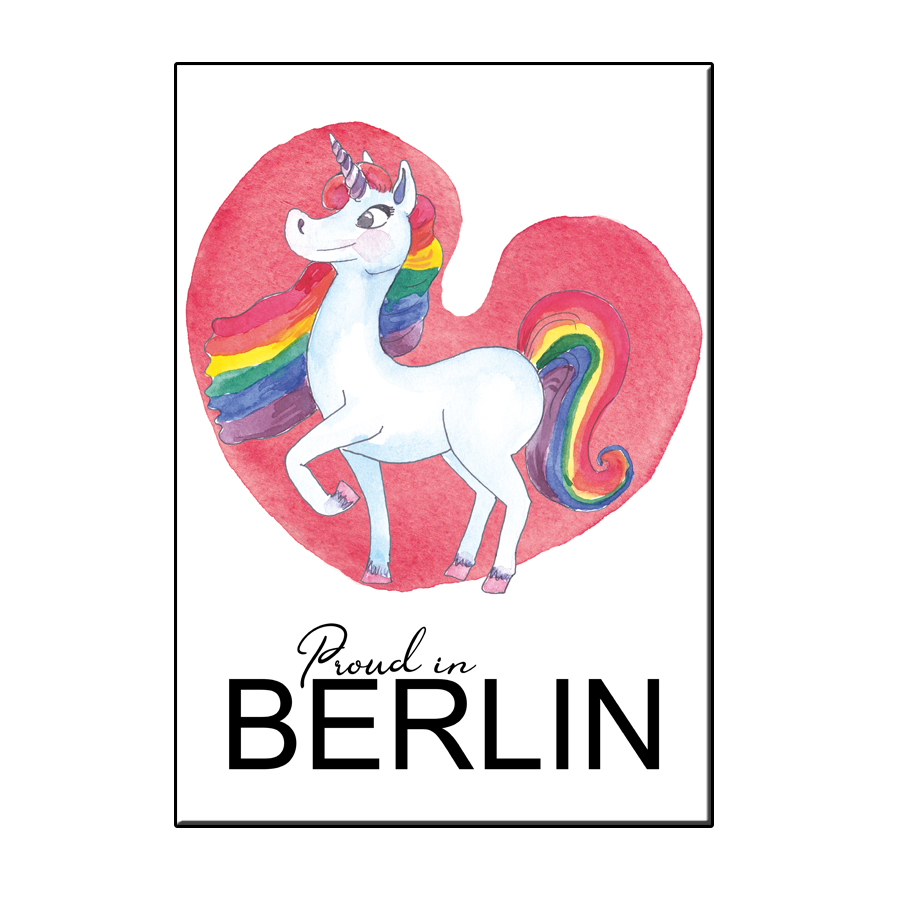 A6 PROUD IN BERLIN HEART CARD