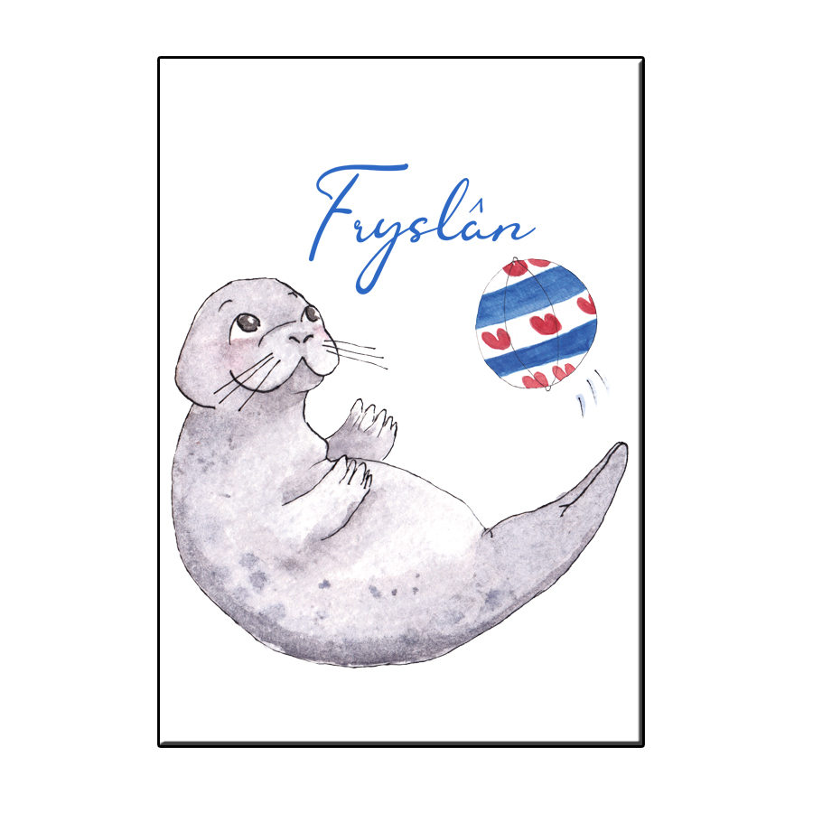 A6 LUCKY SEAL IN FRIESLAND CARD