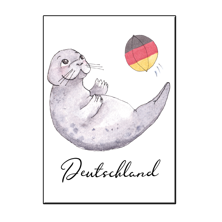 A6 LUCKY SEAL IN GERMANY CARD
