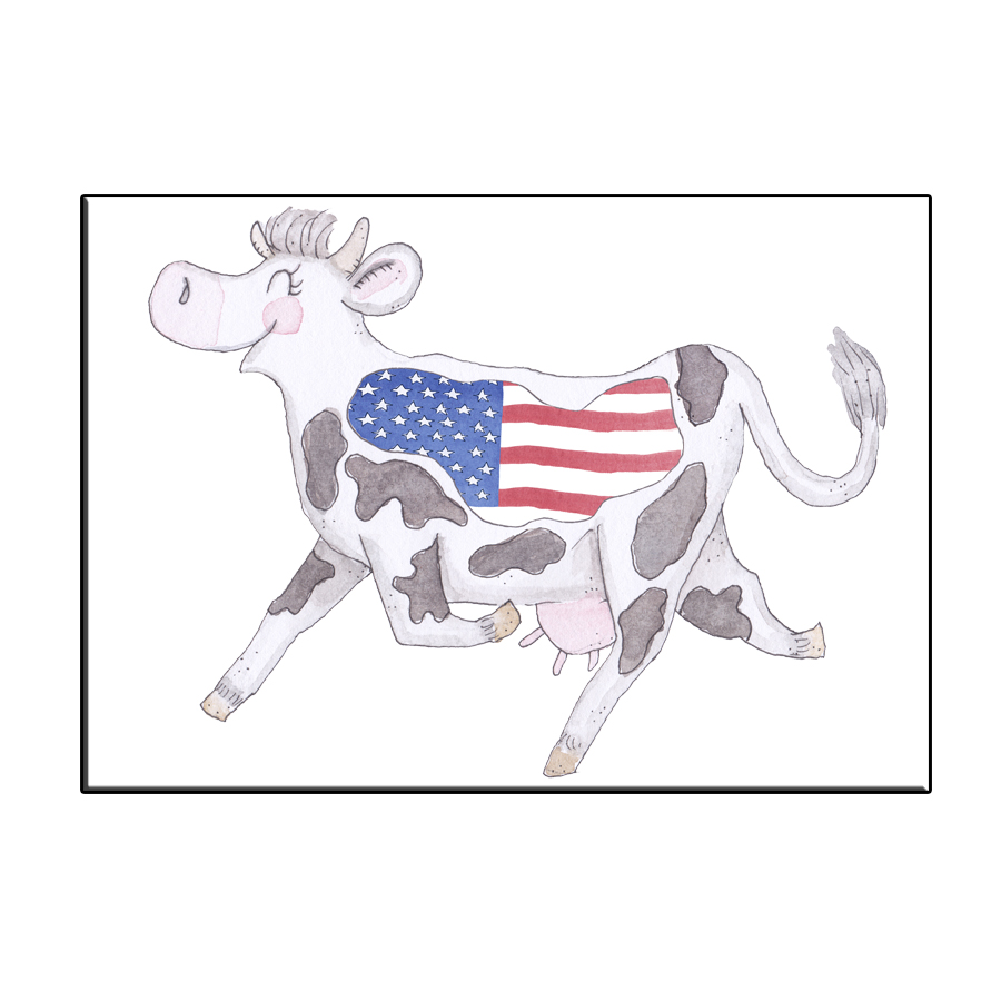 A6 CRAZY COW IN USA CARD