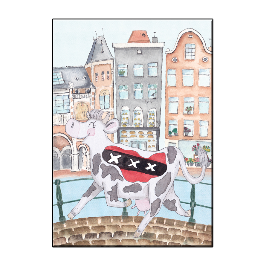A6 CRAZY COW IN AMSTERDAM CITY CARD