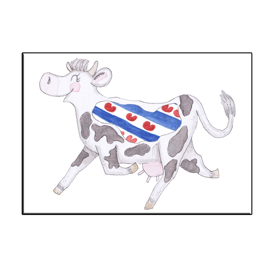 A6 CRAZY COW IN FRIESLAND CARD