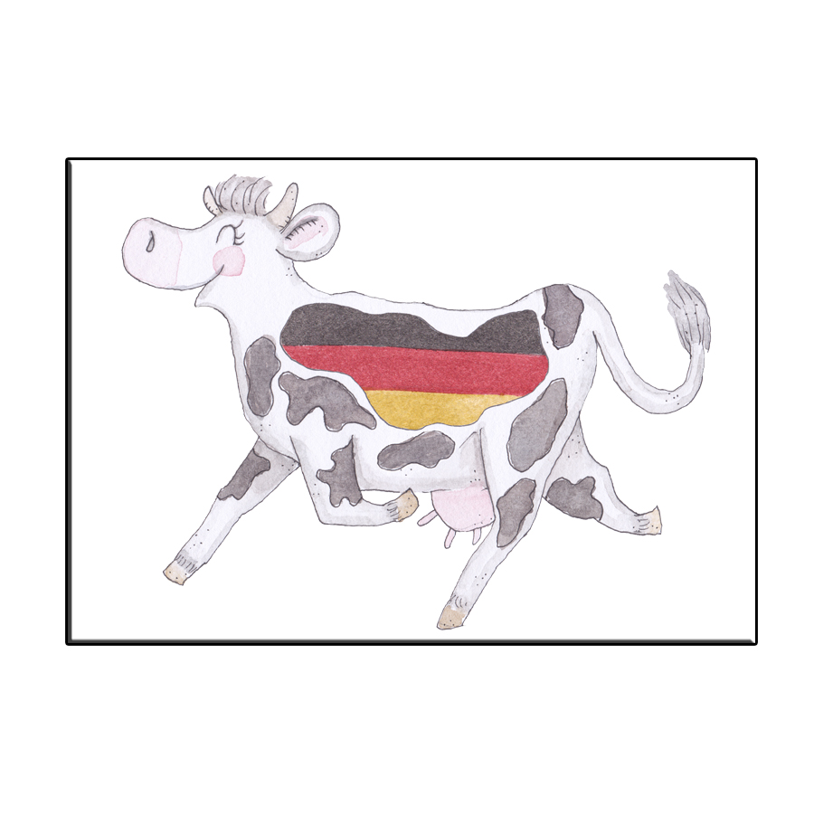 A6 CRAZY COW GERMANY CARD