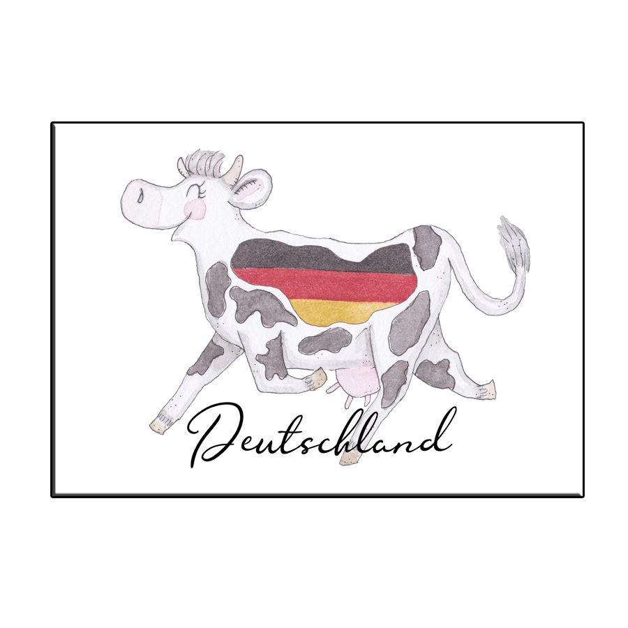 A6 CRAZY COW IN DEUTSCHLAND TEXT CARD