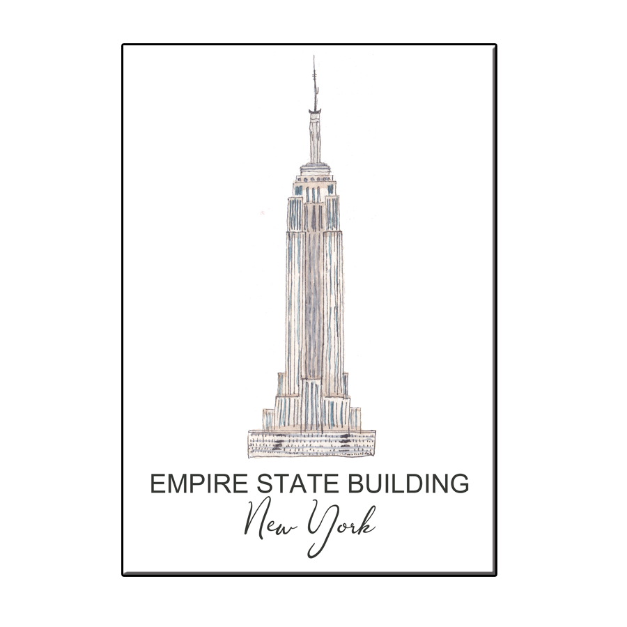A6 CITY ICON EMPIRE STATE BUILDING NY CARD