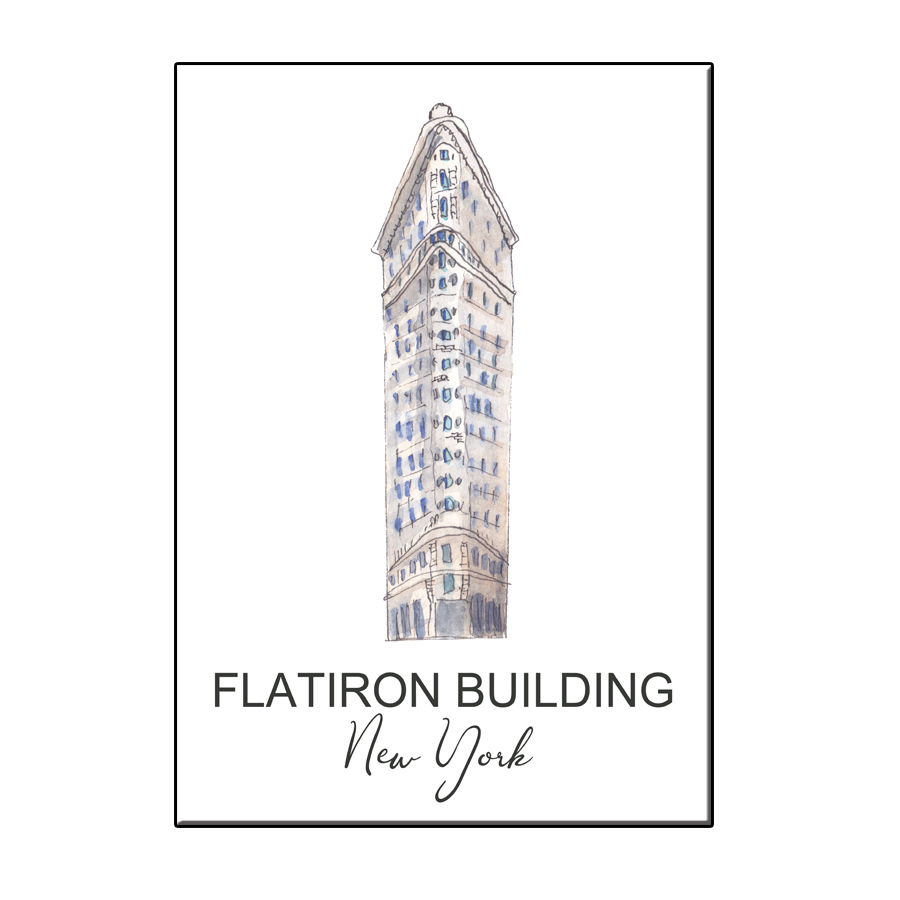 A6 CITY ICON FLAT IRON BUILDING NY CARD