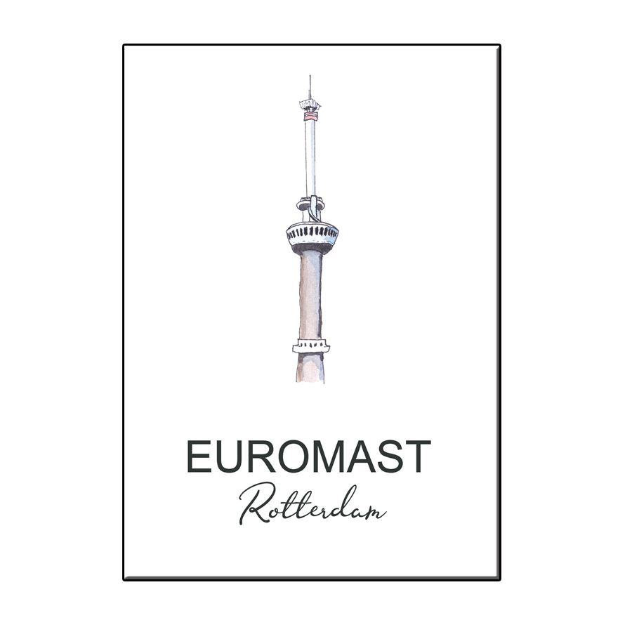 A6 CITY ICON EUROMAST ROTTERDAM CARD