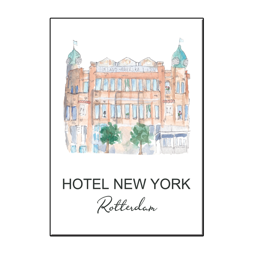 A6 CITY ICON HOTEL NEW YORK ROTTERDAM CARD
