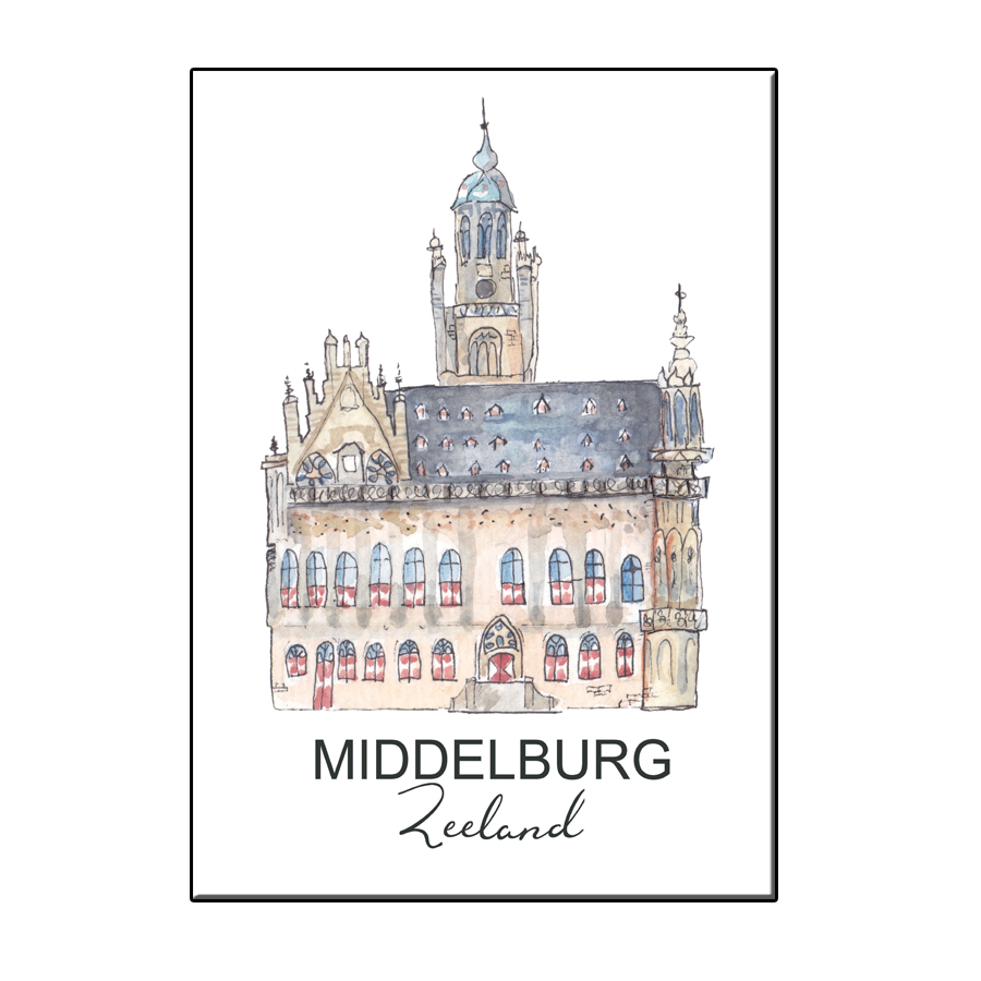 A6 CITY ICON STADHUIS MIDDELBURG CARD