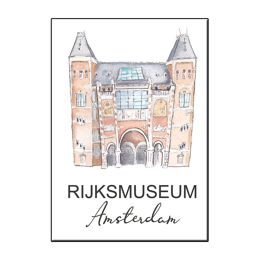 A6 CITY ICON AMSTERDAM RIJKSMUSEUM CARD