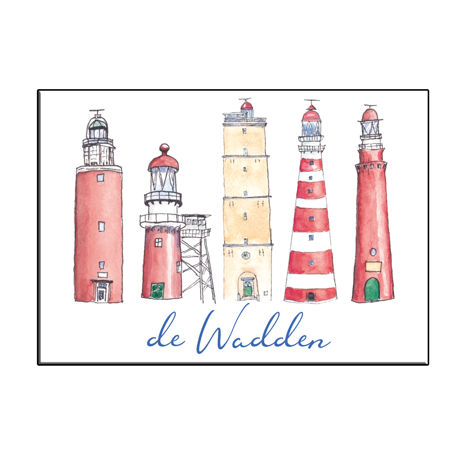 A6 CITY ICON LIGHTHOUSES WADDEN CARD