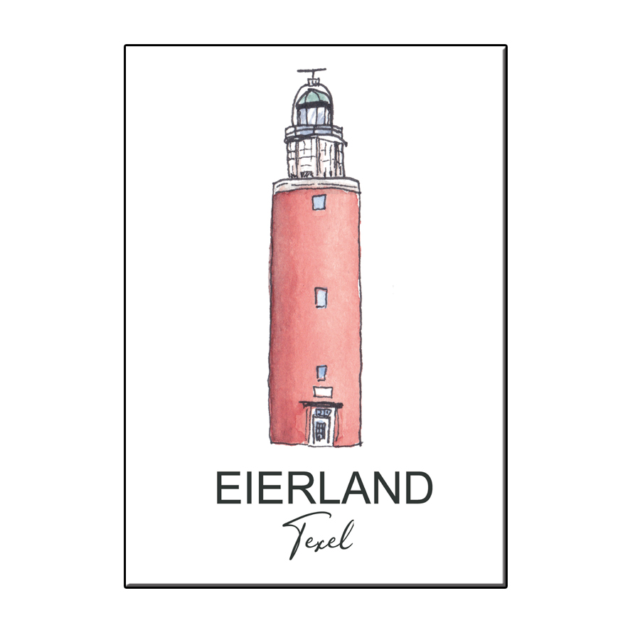 A6 CITY ICON LIGHTHOUSE TEXEL CARD