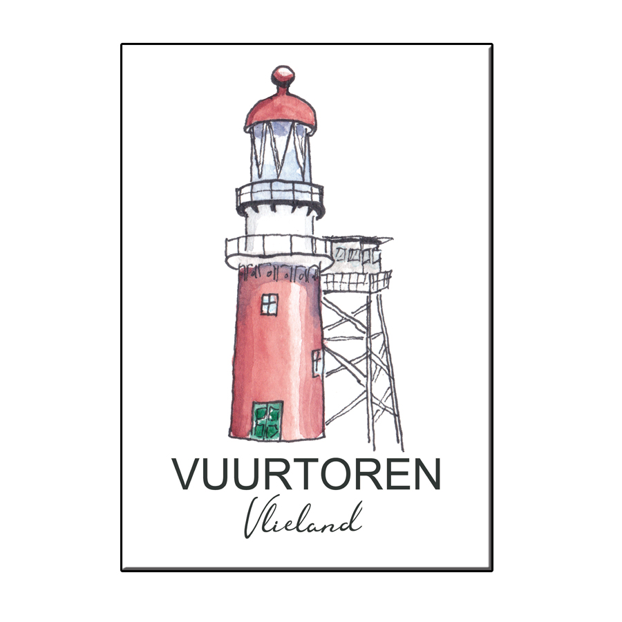 A6 CITY ICON LIGHTHOUSE VLIELAND CARD
