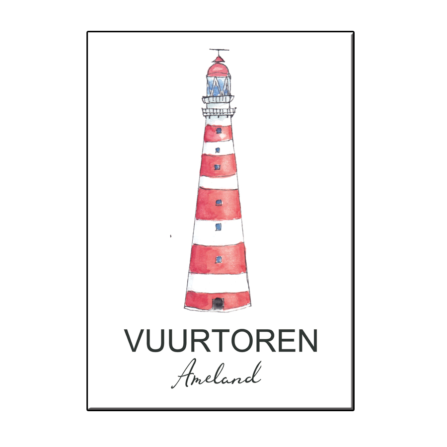 A6 CITY ICON LIGHTHOUSE AMELAND CARD