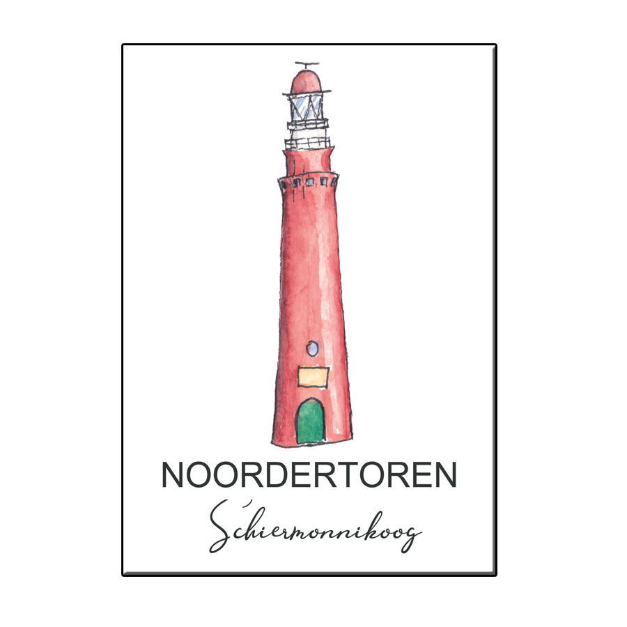 A6 CITY ICON LIGHTHOUSE SCHIERMONNIKOOG CARD
