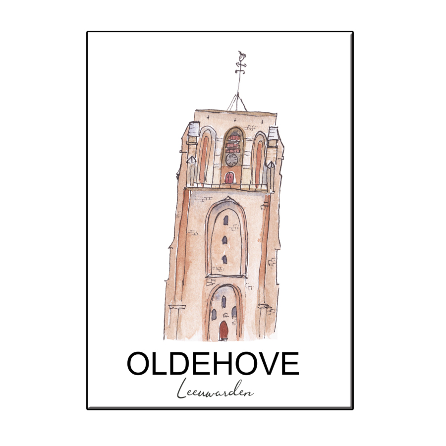 A6 CITY ICON OLDEHOVE LEEUWARDEN CARD