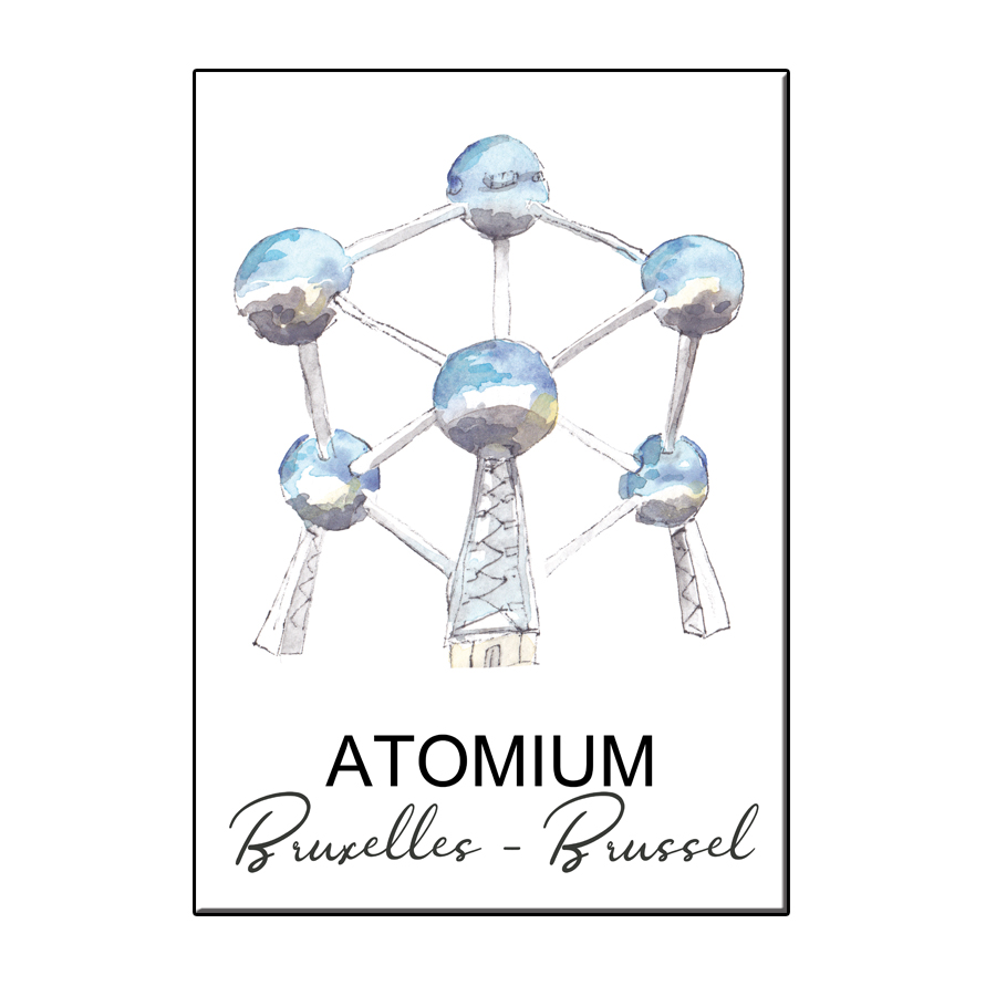 A6 CITY ICON ATOMIUM BRUSSELS CARD
